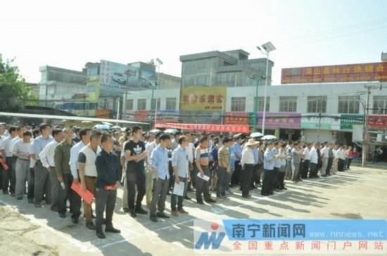 马山县林圩镇千名党员干部誓向脱贫攻坚宣战