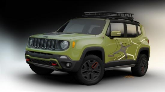 Jeep在北美国际车展上亮相两款经莫帕尔改装的自由侠-——越野版-底高清图片
