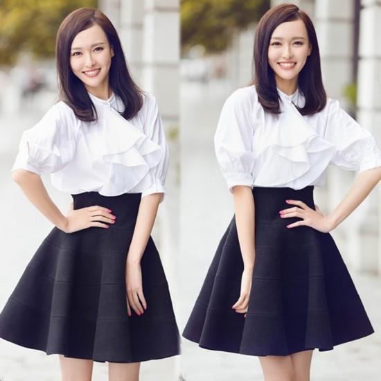 杨幂刘雯刘诗诗娜扎宋慧乔亲身示范白衬衫搭半裙图片