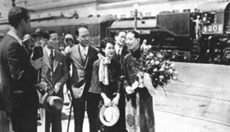 1930年,来美演出的梅兰芳受到华人华侨的热烈欢迎(资料图)