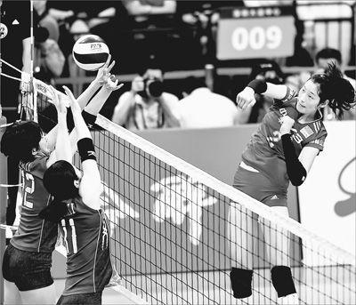 中日女排精英赛深圳站第二场 中国队战胜日本