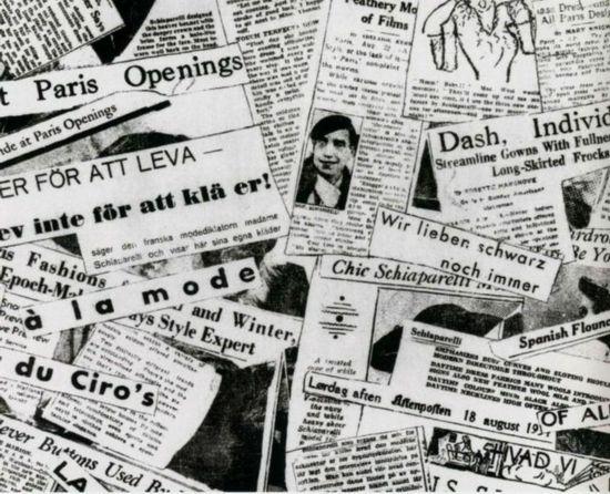 elli的剪报拼贴画作品-王菲的报纸纹印花到底是谁发明的