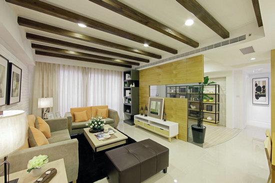 设计师利用室内设计的美学引导,于点,线,面的创造理念内,纳入居住者