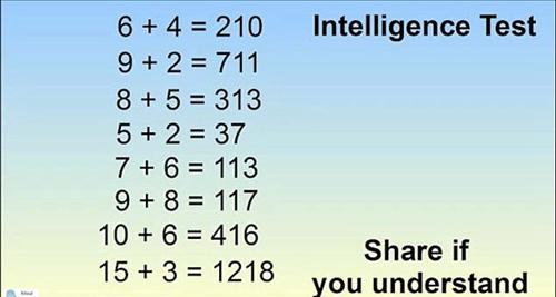 """答出智商超150!智力测验""""?+?=123""""风靡网络 (图)"""