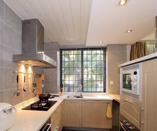 88.00平米-厨房装修效果图-70平米二居室新婚时尚装修 3套小户型装高清图片