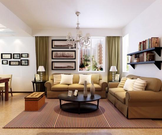 70平米二居室新婚时尚装修 3套小户型装修效果图高清图片