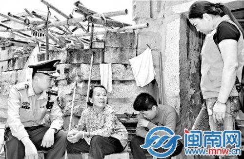 晋江八旬老人照顾智障孙女28年 忍痛送到福利院