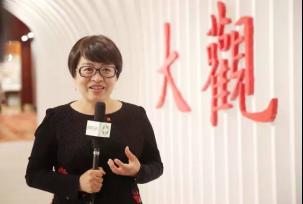 开幕之后,中国嘉德董事总裁兼CEO胡妍妍女士接受媒体采访