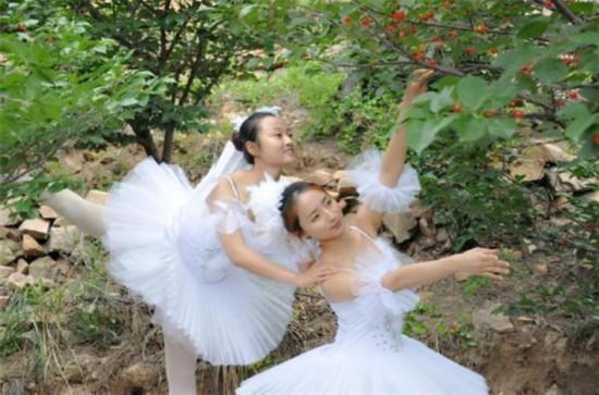 美女樱桃树下跳芭蕾_美女樱桃树下跳芭蕾锁骨挺樱桃也是一绝