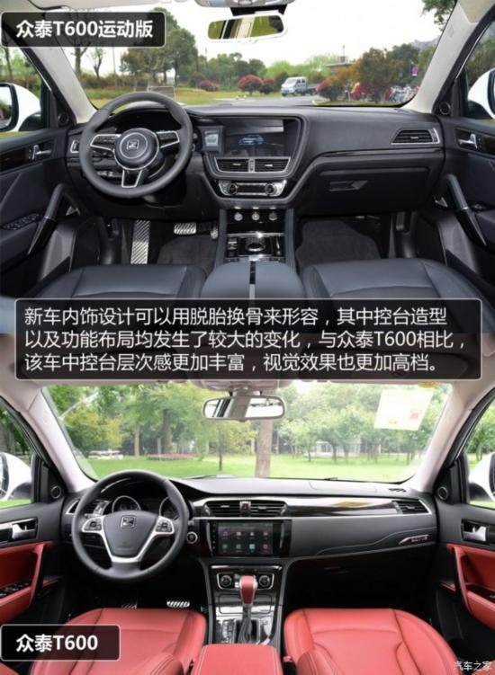 众泰汽车 众泰T600 2016款 运动版 2.0T 自动尊贵型
