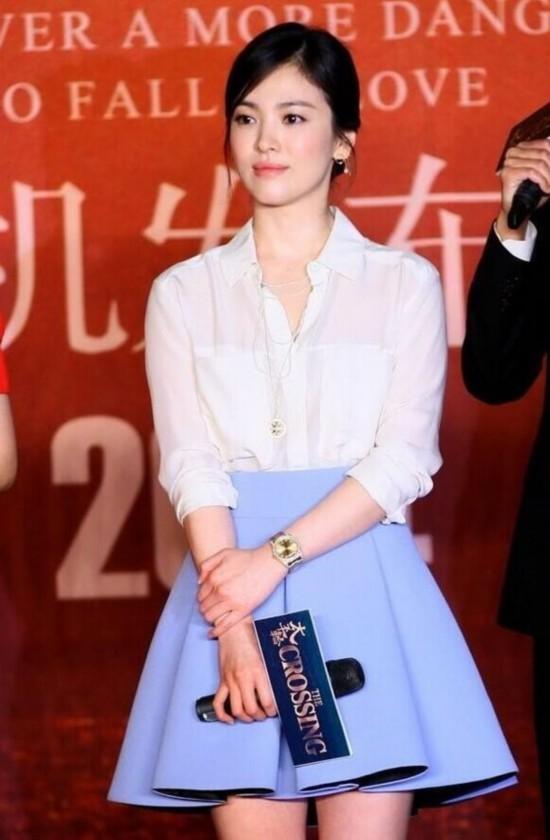 宋慧喬竟把白襯衫穿得這麼美 女星都愛春日必備白襯衫【組圖】