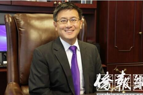 美加州华裔财长江俊辉正式宣布参选州长(图)