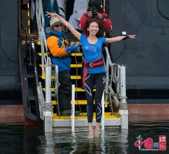 《花姐2》林志玲南极挑战冰泳 绝对零度无惧极