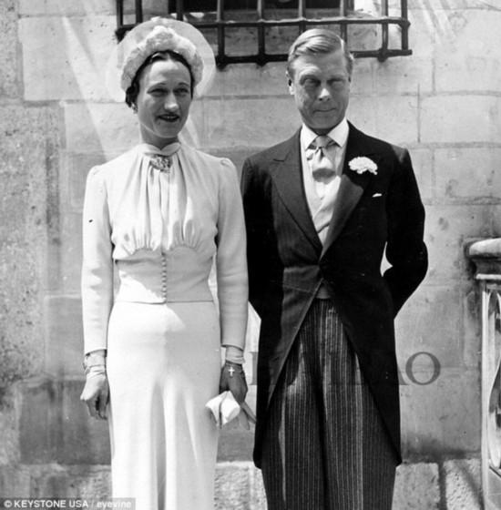 沃利斯·辛普森温莎公爵婚礼照,1937年