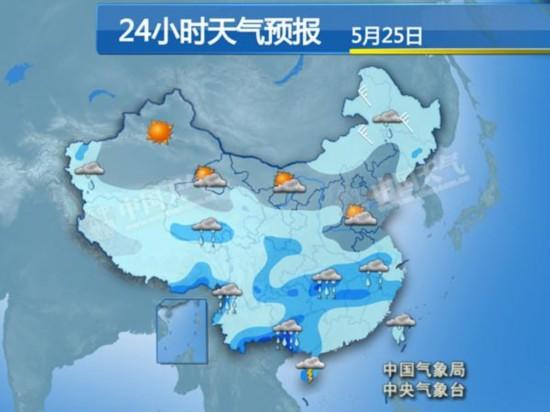 长江中下游雨势渐强 广东再迎大到暴雨