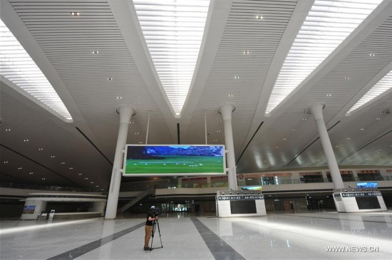 Newly-built Urumqi High-speed Rail Station to put into service