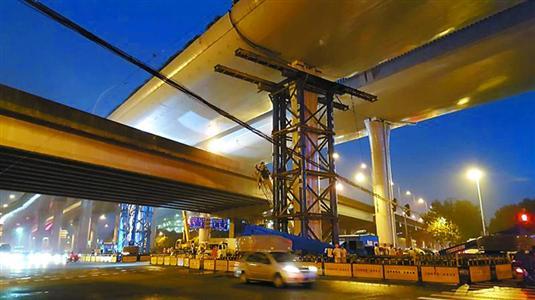 上海中环高架修复工作进展顺利 将更换四个支座图片
