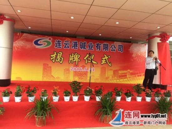 连云港碱厂正式划转地方 碱业有限公司揭牌