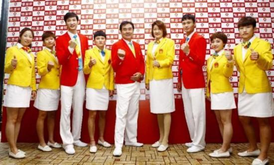 """里约奥运中国团礼服发布 第三次被戏称""""番茄炒蛋"""""""