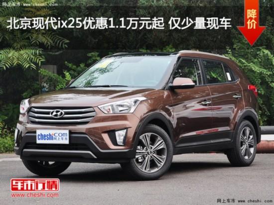 北京现代ix25优惠1.1万元起 仅少量现车-图1