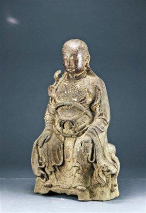 深圳博物馆藏明鎏金铜真武大帝像