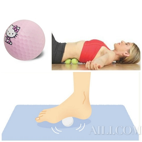 高尔夫球按摩法  5分钟帮你击退水肿
