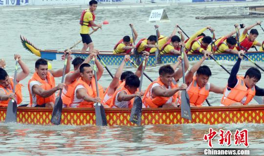 两岸龙舟队挥桨竞渡2016中华龙舟大赛福州站比赛