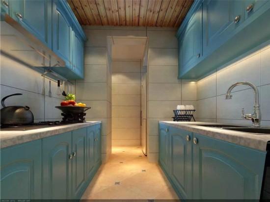 90平米小户型装修效果图 地中海二居室清凉美家