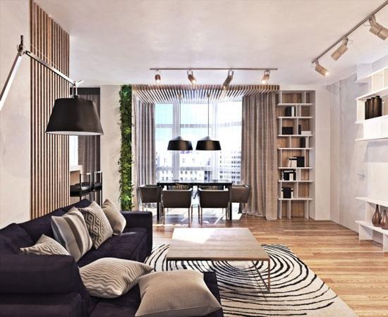 开放格局前卫空间 现代大户型公寓设计
