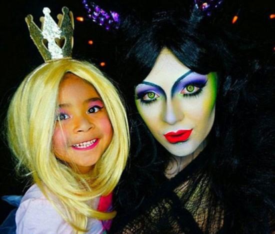 美彩妆师邀女儿一同变装电影经典人物