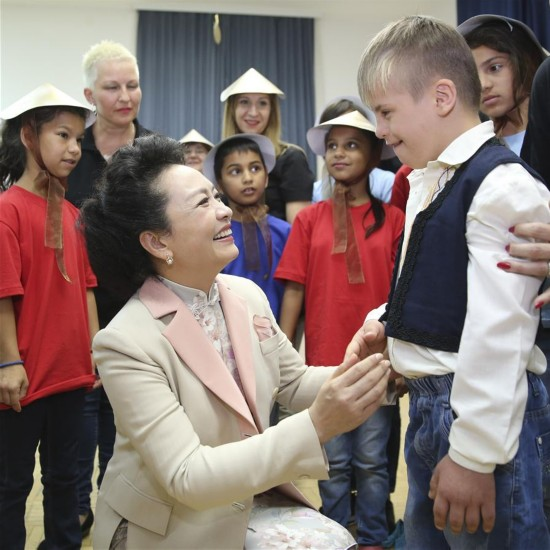 SERBIA-CHINA-PENG LIYUAN-SCHOOL FOR CHILDREN WITH DISABLIITIES-VISIT
