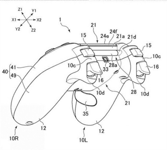 按键更多!索尼性能版PS4手柄专利图曝光