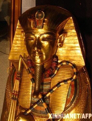 十大传奇宝藏 埃及法老的金面具 图图片