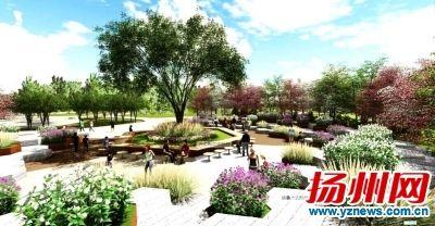 扬州廖家沟公园三期开建 市民可乘高铁游览