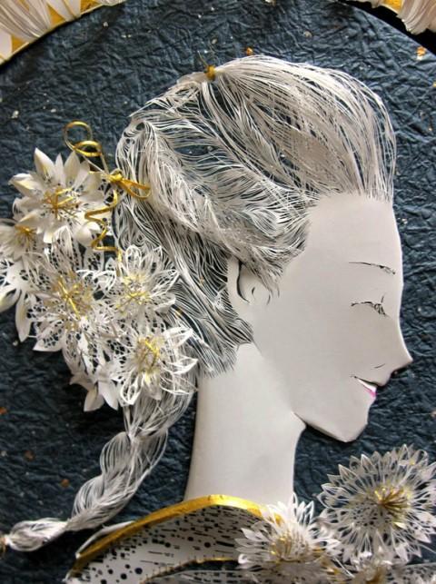 日本立体纸雕剪裁艺术家的惊人作品