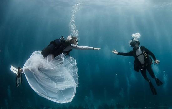 盘点世界上独特的婚礼场所 大漠深海天空无处不可去