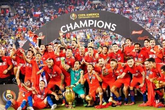 (体育)(9)足球――美洲杯决赛:智利夺冠