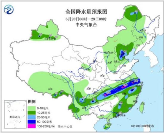 长江中下游降雨加强 多地累积雨量惊人