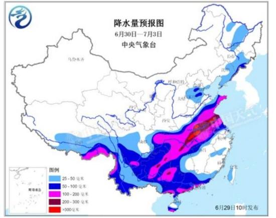 西南地区至淮河流域等地将遭遇新一轮强降雨 10省区市将有大暴雨