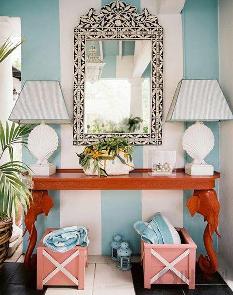 18种方式,利用珊瑚的色调提升家里的亮度