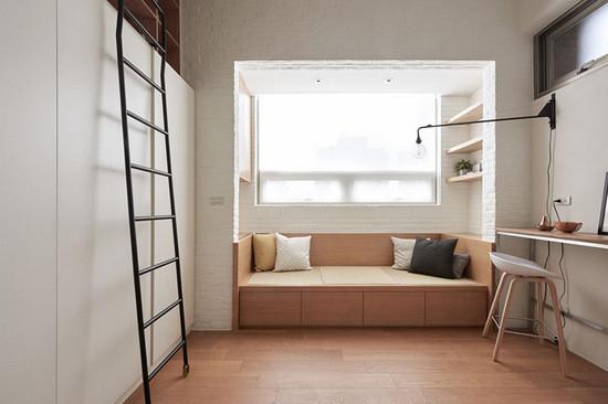 超迷你19平夹层公寓 木质元素好温暖