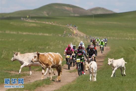 2016铁木真国际草原山地车挑战赛在内蒙古开赛