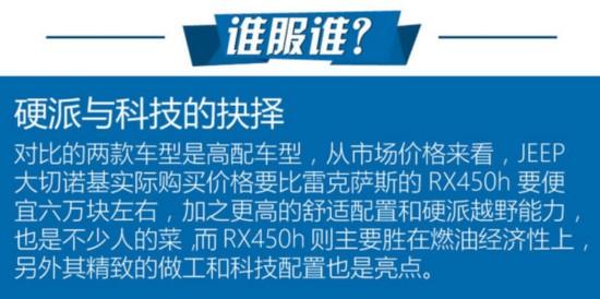 传统与科技的碰撞 大切诺基对比RX450h-图8