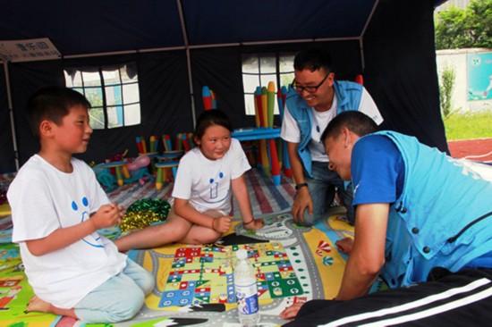 壹基金阜宁灾区首个儿童服务站建成开放