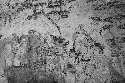 唐韩休墓壁画