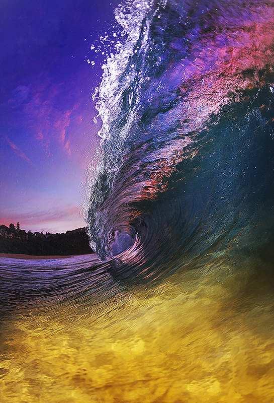 澳大利亚冲浪摄影师独特角度拍浪花 美轮美奂(图)【7】