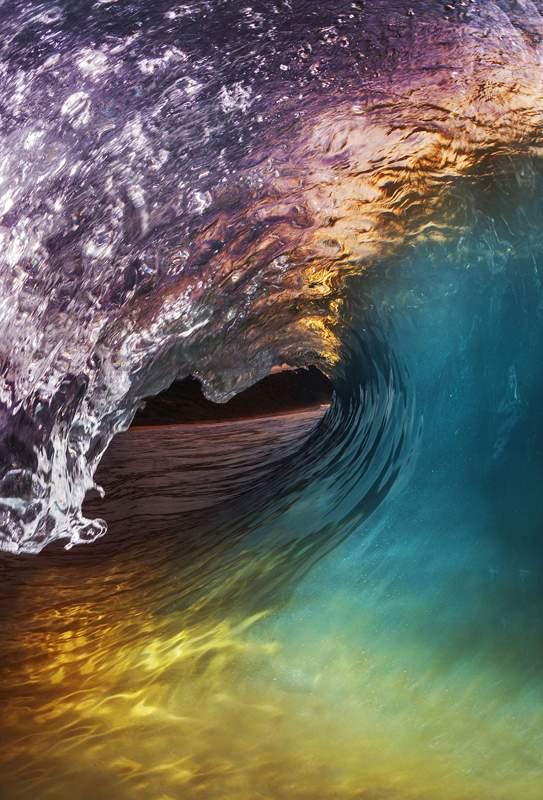 澳大利亚冲浪摄影师独特角度拍浪花 美轮美奂(图)【8】