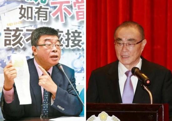 """前国民党""""立委""""邱毅(左图)、台湾防务部门负责人冯世宽(右图)。"""