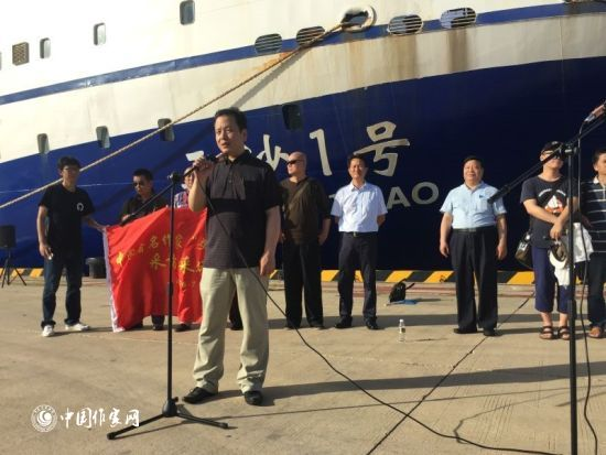 中国作协副主席李敬泽在启动仪式上致辞