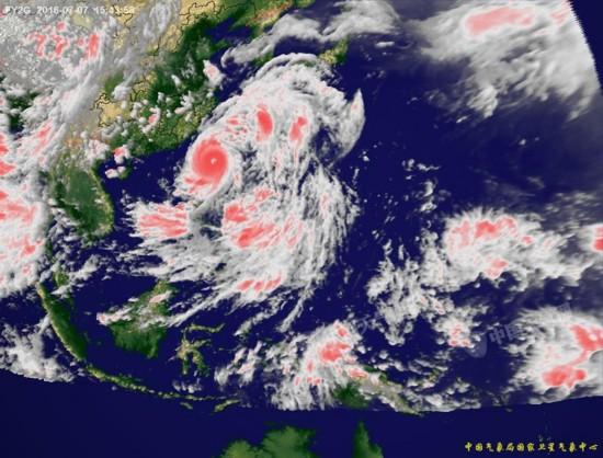 016年第1号台风 尼伯特 高清卫星云图图片